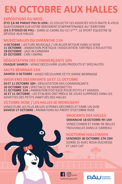 Animations octobre - Halles de Pau